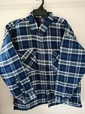 Mens Padded Checked Shirt Fleece Lined Lumberjack Work Wear by Eurolec.MEDIUM..