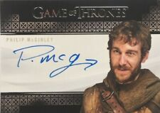 Philip McGinley Valyrian Steel Autograph, Game of Thrones Complete Series