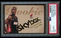 2003-04 Skybox Dwyane Wade Rookie Autographics /1500 PSA 10 Gem Mint RC #75