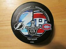 2014 Stanley Cup Playoffs Dueling Puck Tampa Bay Lightning / Montreal Canadiens