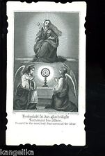 Andachtsbild---Hochgelobt sei das Allerheiligste Sacrament des Altares-