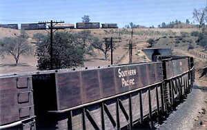 Southern Pacific at the Tehachapi Loop, California railroad train postcard