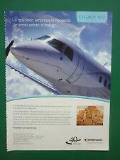 7/2009 PUB EMBRAER AVION LEGACY 600 BUSINESS JET ORIGINAL SPANISH AD