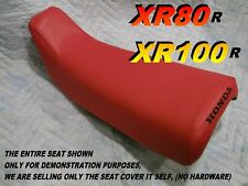 XR80 XR100 1985-1999 seat cover for Honda XR80R XR100R XR 80 XR 100 Red 051A