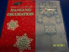 Let it Snow Winter Christmas Holiday Party Cutout Snowflake Hanging Decoration