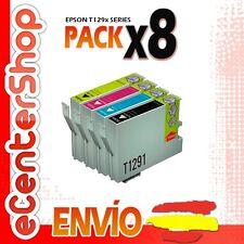 8 Cartuchos T1291 T1292 T1293 T1294 NON-OEM Epson Stylus SX445W