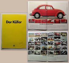 Original Werbeprospekt Broschüre Volkswagen VW Käfer 1976 Oldtimer Automobil xz