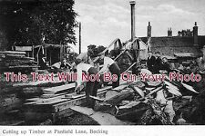 ES 110 - Cutting Up Timber At Panfield Lane, Bocking, Essex - 6x4 Photo