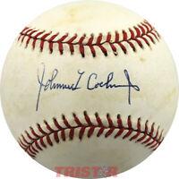 Johnnie Cochran Signed Autographed AL Baseball PSA - O.J. Simpson Lawyer