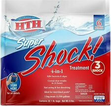 New listing Hth 4-in-One Super Shock Swimming Pool Chlorine Cleaner, 1 lb - 6 Pack