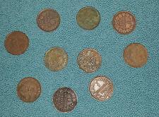 Monete 1cent. Valore -Regno Vittorio Emanuele III (varie date-10 pz) MB-QBB-Rame