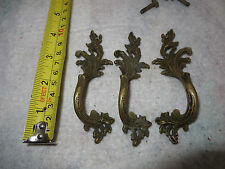 Vintage Rare Drawer Pull Trunk Cabinet Ornate Dresser Scroll Handle (#017)