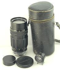 Sankyo KOMURA 135mm f3.5 LENS Leica RF Rangefinder mt CASE & VIEWFINDER Set