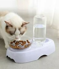 PETnSport Raised Cat Bowl Slow Feeder, Slanted Single, Double w/ Water Dispenser