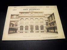 ECOLE COMMERCIALE DE PARIS Album Photographique Souvenir PROFESSEURS ELEVES 1923