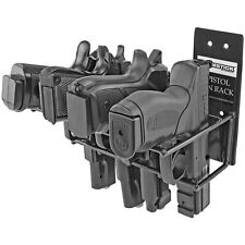 Handgun Wall Mount Rack 4 Gun Model, Black           Black