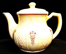 Porcelier Mfg Tm Hand Decorated Vitreous China Teapot ~Vguc