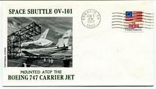 1977 Space Shuttle OV-101 Mounter Atop Boeing 747 Carrier Jet Edwards SPACE USA