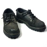 Mens Dark Brown Utility Suede Leather Oxford Comfort Shoes Skechers Size 7