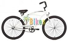 "Micargi Touch Men's 26"" Beach Cruiser Bike - White"