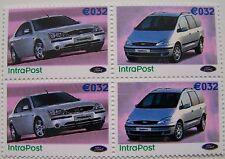 Stadspost Den Helder 2002 - Blok van 4 auto's, cars Ford Mondeo, Galaxy