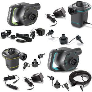 INTEX Quick Fill elektrische Luftpumpe High PSI 12V 230V + Adapter