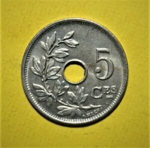 Belgium 5 Centimes 1925 Brilliant Uncirculated Coin - Belgique Coin