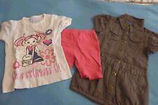 3 tlg. MÄDCHENSET ~ Gr. 110/116 ~ Kleid, Shirt, kurze Leggings