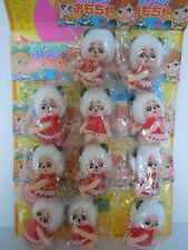 SUPER RARE JAPAN MADE KIDDLE KLONE / CLONE PANDA BIG EYES GIRL DOLLS ON DIDPLAY