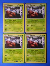4x Parasect 7/83 rare, 4x Paras 6/83 common Pokemon TCG card XY Generations NM