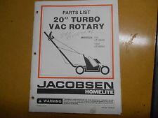 """Homelite 20"""" Turbo Vac Rotary Parts List JA-99018-6"""