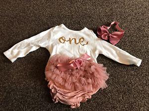 Baby Girls 1st Birthday /cake Smash Outfit