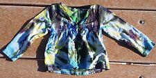Tie Dye Youth Girls Garanimals 24 Month Long Sleeve Top Yellow Light House