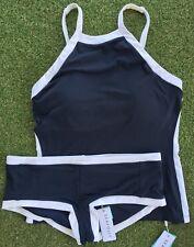 New Seafolly Block Party Indigo Singlet & Boyleg Pant - Size AU14 / US10