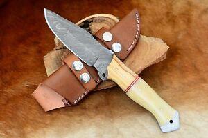 """10"""" MH KNIVES HANDMADE DAMASCUS STEEL FULL TANG HUNTING/SKINNER KNIFE MH-501"""