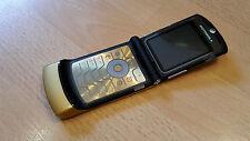 Motorola RAZR v3i color oro/con lámina/plegable móvil/sin bloqueo SIM