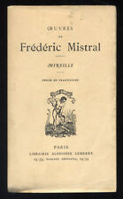 FREDERIC MISTRAL, MIREILLE, LEMERRE