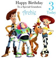 Handmade Personalised Toy Story Birthday Card Son Grandson Brother DaughterNiece