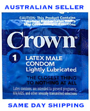 Crown Skinless Super Thin Lightly Lubricated Latex Condoms Pack of 24.