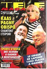 Patricia Kaas Pagny Obispo Télé Magazine 2246/1998