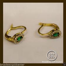 Emerald Yellow Gold Fine Earrings