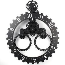Mechanical Fashion Design Wall Art Black Gear Clock 20''