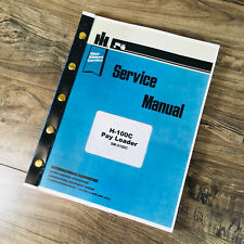 International Hough Model H 100c Pay Loader Service Manual Repair Book Shop