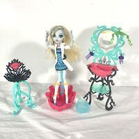 Monster High Doll Lagoona Blue Mad Scientist W/ Vanity Chair Bathroom Playset