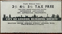 City of London Building Society Vintage Advertisement 1936