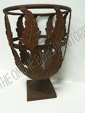 Decorative Display Rustic Mosaic Metal Antique Copper Leaf Urn Planter Jar