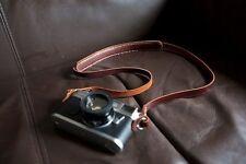 Handmade Real Leather Camera strap Neck strap for film EVIL camera 01-103 Brown