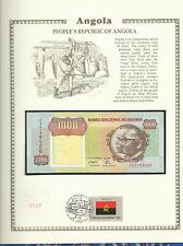 Angola Banknote 1000 Kwanzas 1991 P129b sign 17 UNC  w/FDI UN FDI FLAG Prefix CD