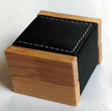 Luxus Ring Etui Schmuckschachtel Schmuck Box Kästchen Holz + Leder-Imitat