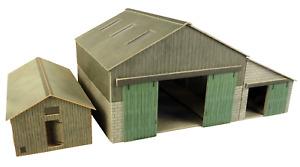 Metcalfe PO252 OO/HO Gauge Manor Farm Buildings Card Kit